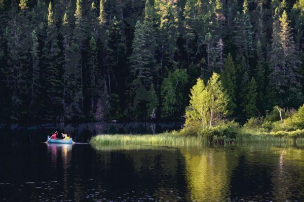 Canada - Lac et sapins - Titre