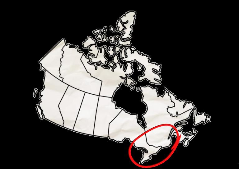 Carte Canada Est - Grand Format