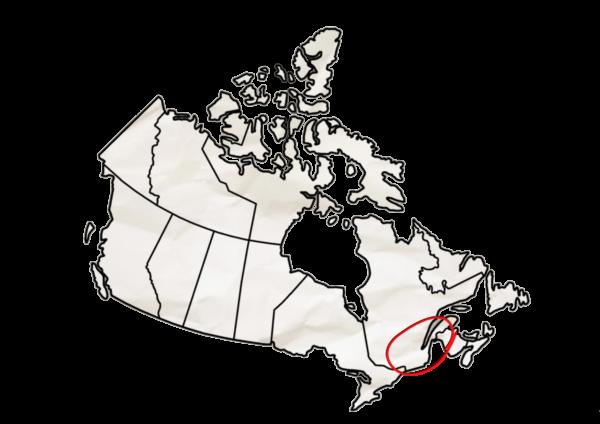Carte Canada Est - Grand Format Hiver