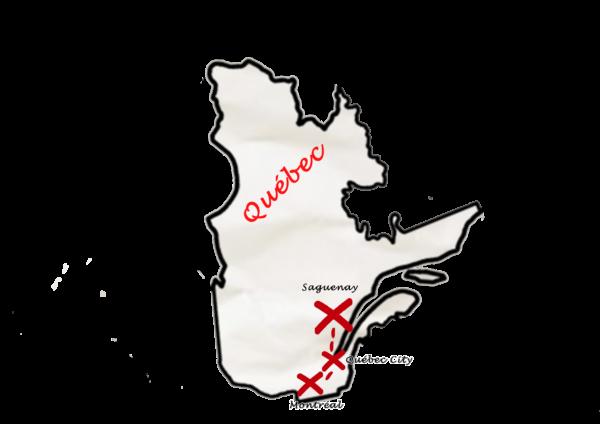Carte Canada Est - Zoom Hiver