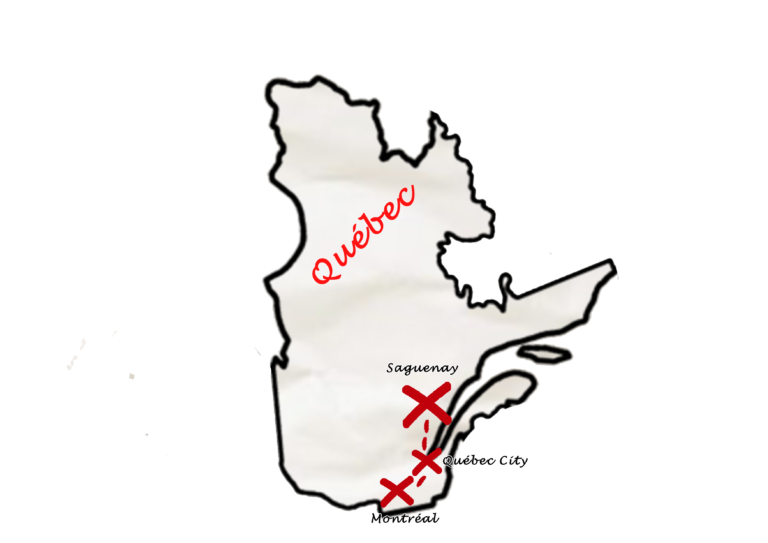 Carte Canada Est - Zoom Québec