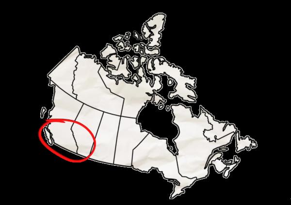 Carte Canada Ouest - Grand Format
