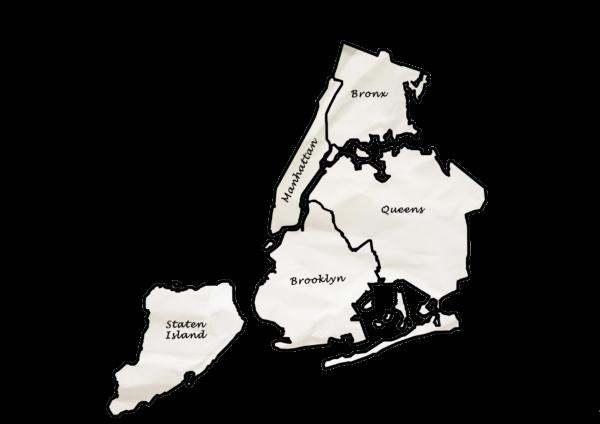 Carte New York - Grand Format