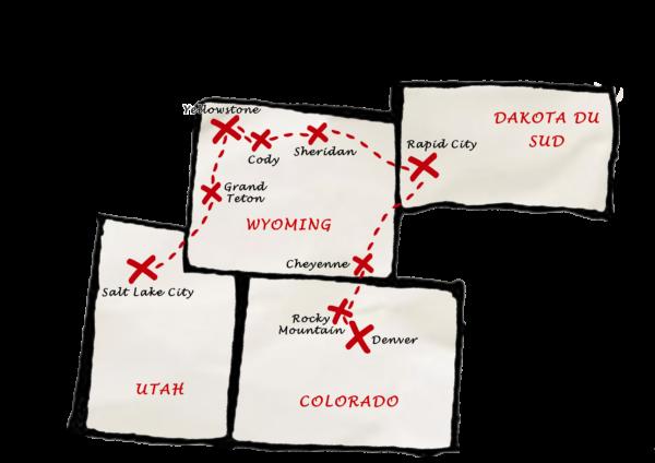 Carte Yellowstone - Grand Format