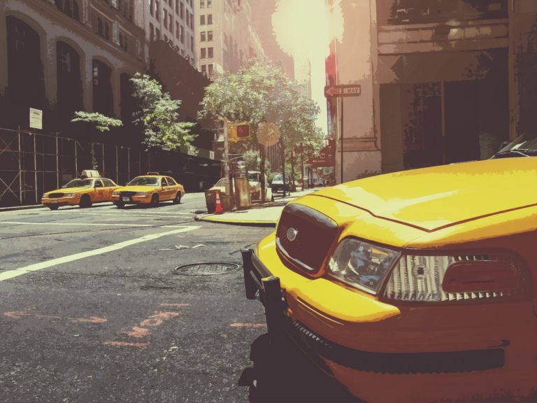 New York City - Taxi Jaune - Cab - Times Square