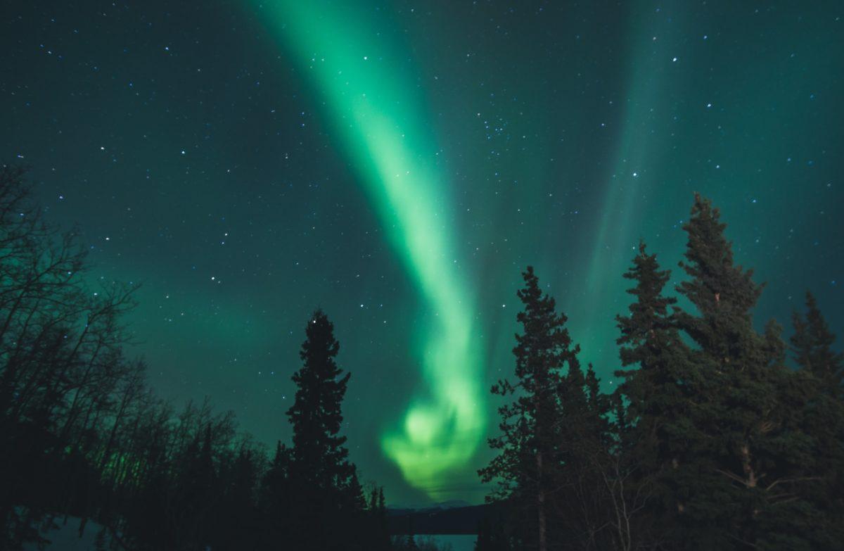 Aurores boréales sur le Yukon