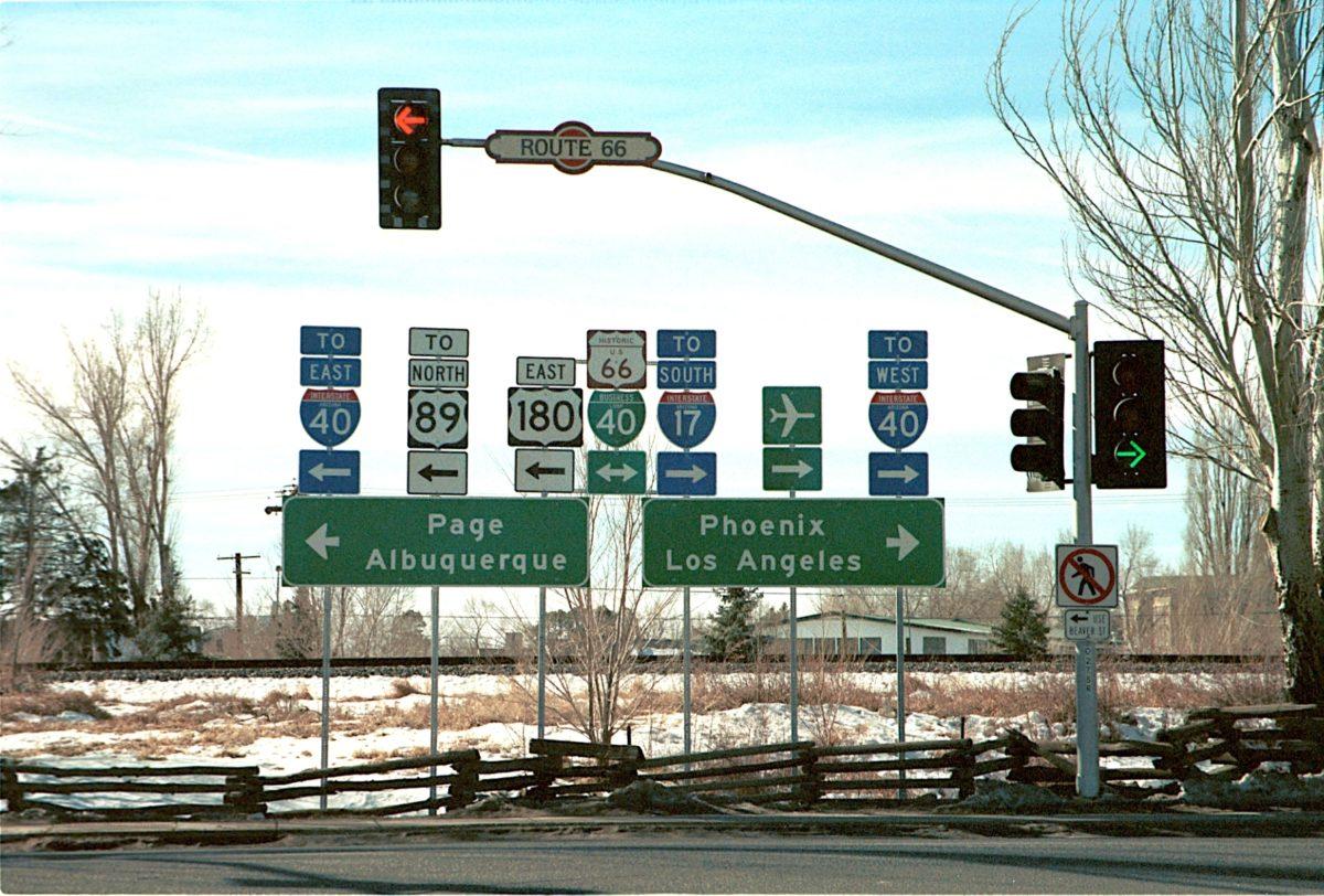 Panneaux de signalisation à Flagstaff