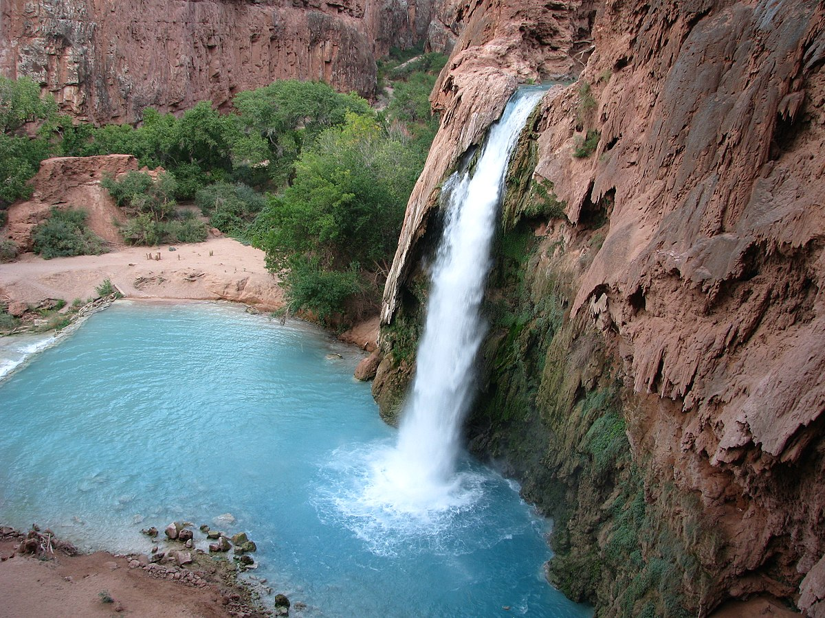 Havasu Waterfall view from the top