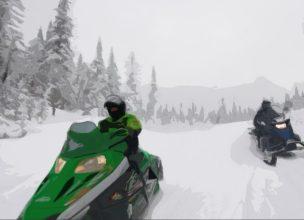 Canada - Saguenay - Hiver - Motoneige