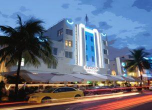 Miami Beach Street - Floride