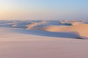 Vue sur les dunes de sables de Lençois Maranhenses
